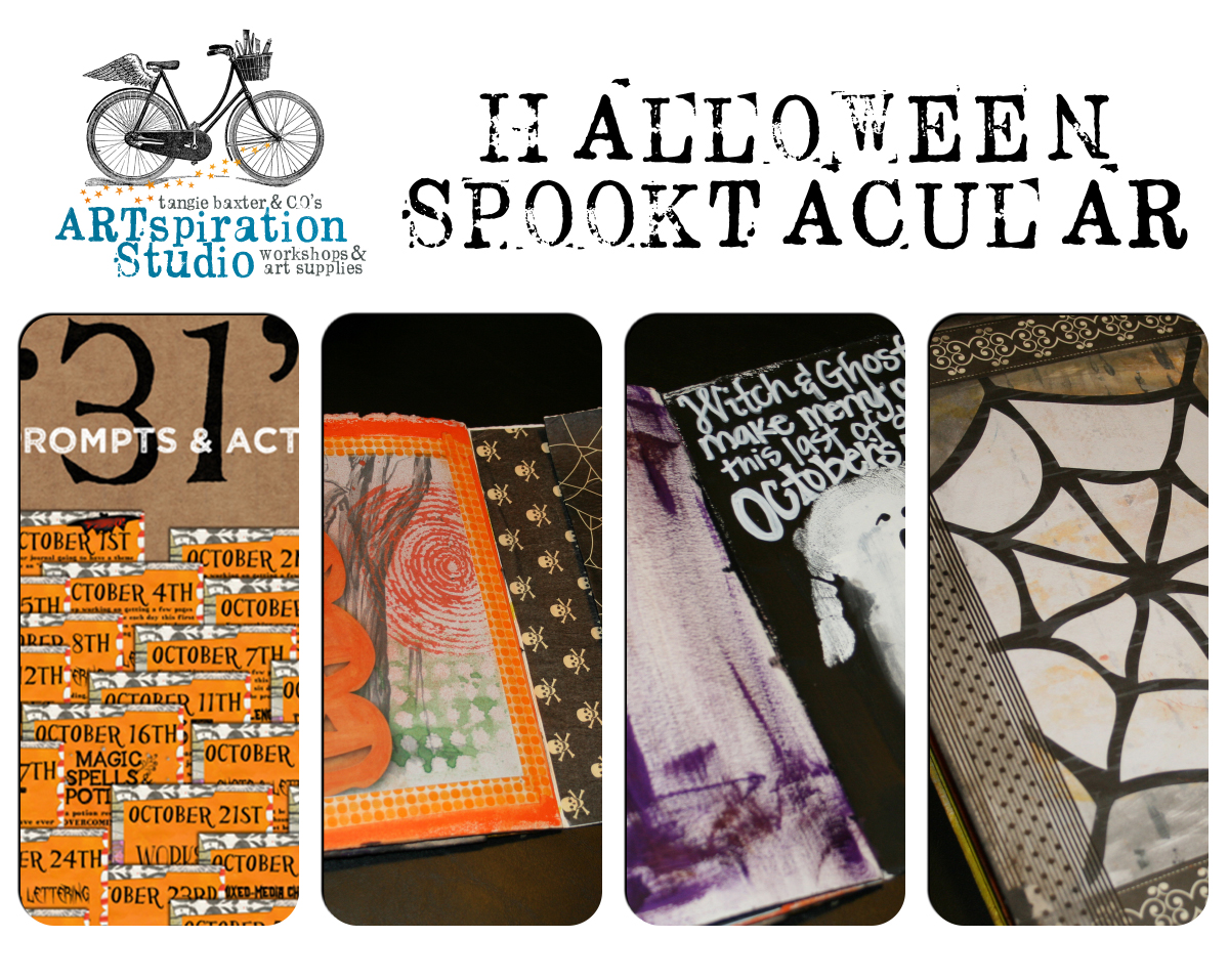 Halloween Spooktacular Art Journaling Party @ Artspiration Studio