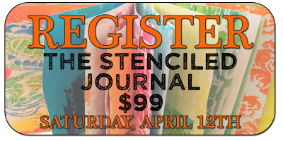 The Stenciled Journal @Artspiration Studio by Carolyn Dube