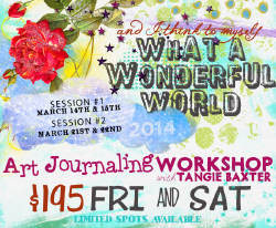 What a Wonderful World Workshop @ Artspiration Studio March 2014