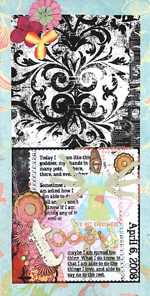 Hybrid Art Journal Page by Julie Ann Shahin