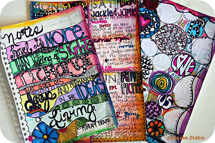 Buildable Art Journal Pages by Julie Ann Shahin