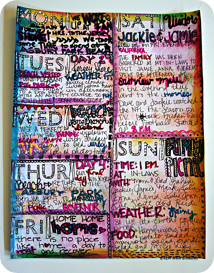Buildable Art Journal Planner Page by Julie Ann Shahin