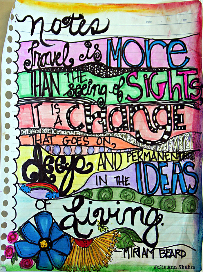 Word Art Journal Page by Julie Ann Shahin