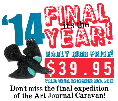 Early Bird Price for the Art Journal Caravan